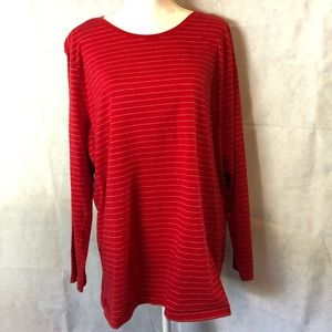 Red and Silver long sleeved tee